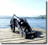 cannon on the peer
